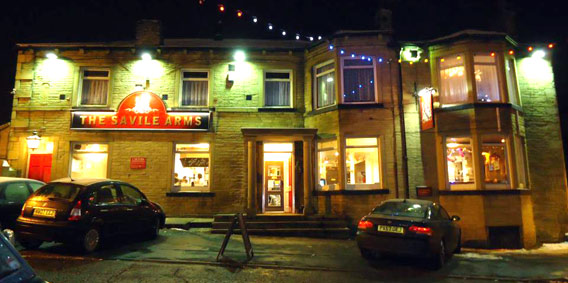 The Savile Arms, Elland at night